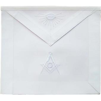 Masonic master mason apron all white-nanba