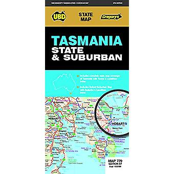 Tasmania State & Suburban Map 770 27th ed by UBD Gregory's - 9780