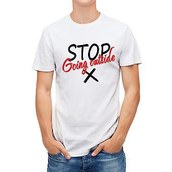 Allthemen Men's 3D-tryckt T-shirt COVID-19 Stop Series Short T-shirt