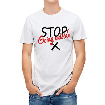 Allthemen Men's 3D Printed T-Shirt COVID-19 Stop Series Short T-Shirt