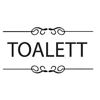Wall décor | Toilet Sign | Myriad Font