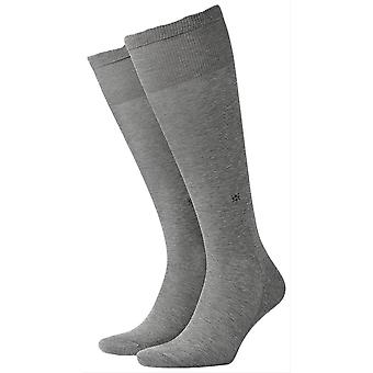 Burlington Cardiff Knee High Socks - Steel Grey