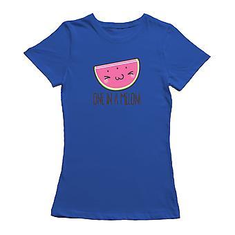 Kawaii One In A Melon Watermelon Graphic Women's T-shirt
