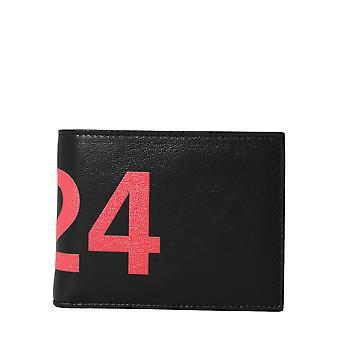 424 424mss20049blk Men's Black Leather Wallet
