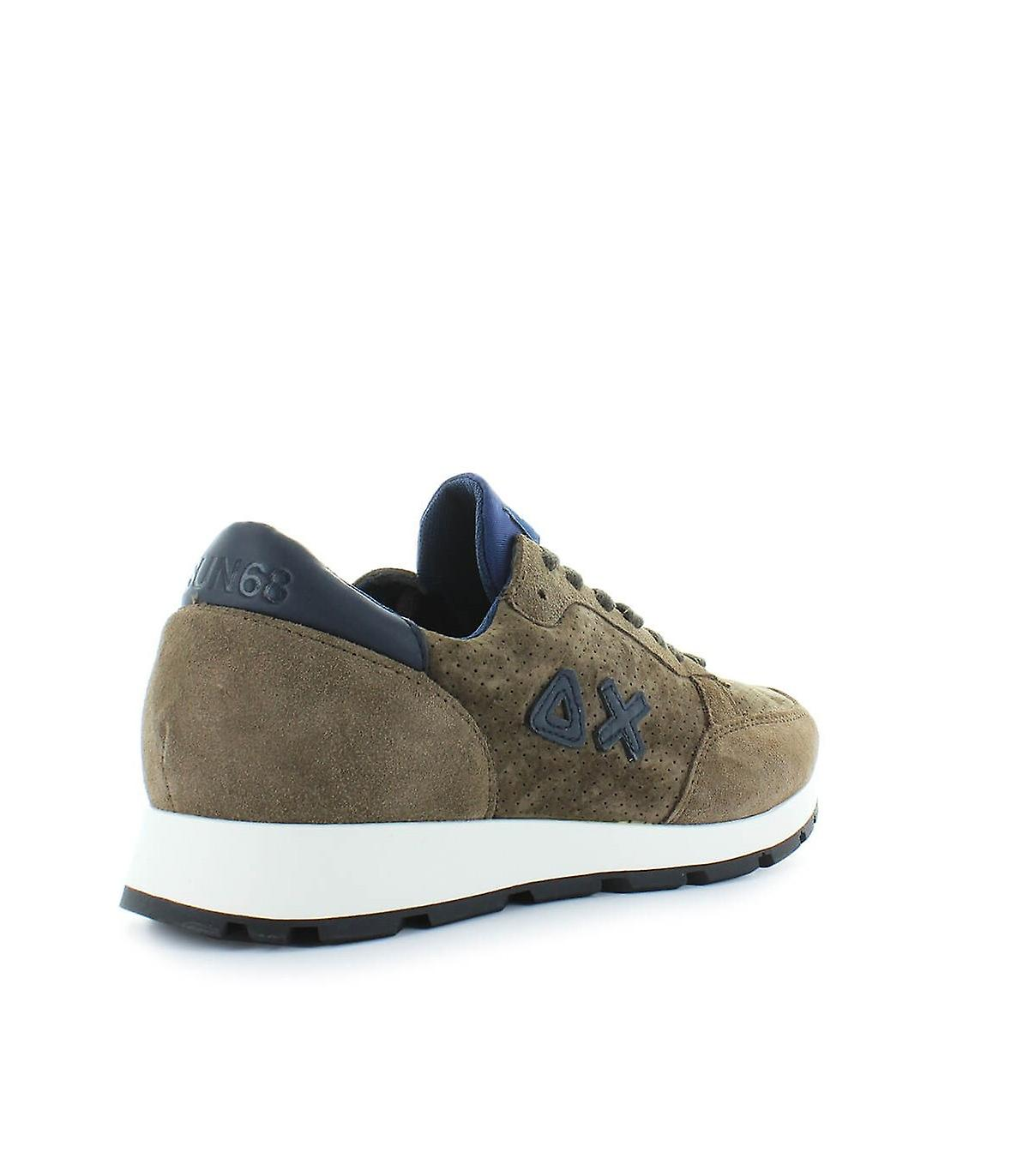 Sun68 Dark Brown Niki Hole Nabuk Sneaker