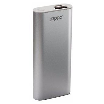 Zippo Heatbank 3 Rechargeable Lithium Iron Hand Warmer avec Power Pack Silver