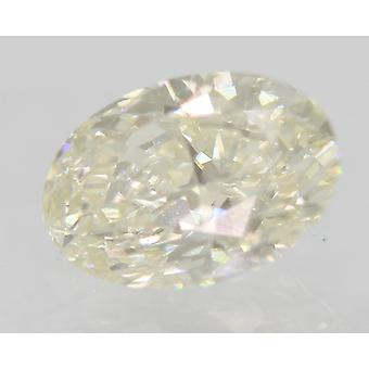 Certified 0.74 Carat H Color VVS1 Oval Enhanced Natural Diamond 7x4.9mm 2VG
