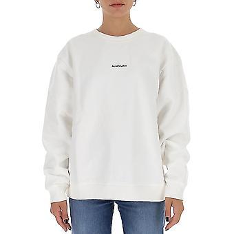 Acne Studios Ai0067opticwhite Women's White Cotton Sweatshirt