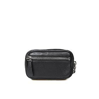 Maison Margiela S55wb0019p0399t8013 Women's Black Leather Pouch