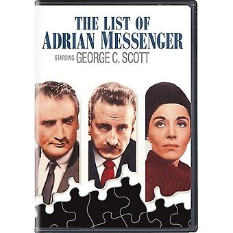 Lista över Adrian Messenger [DVD] USA import