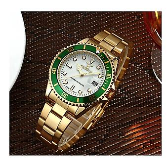 Genuine Deerfun Homage Watch White Green Gold Date Watches Top Quality Oyster