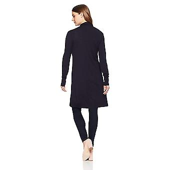 Lærke & Ro Kvinder & S Long Waterfall Cardigan Sweater, Atlantic Navy, Stor