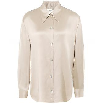 Vince Silk Shaped Collar Blouse