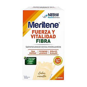 Meritene Fiber Vanilla Shake 14 packets of 35g (Vanilla)