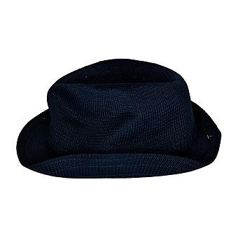 Stacy Adams Polyester Elmhurst Fedora Hat Knit Navy Blue