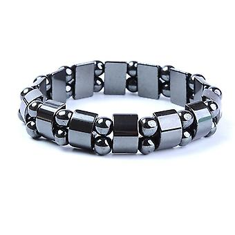Weight Loss Round Black Stone Magnetic Therapy Bracelet - Health Care Magnetic
