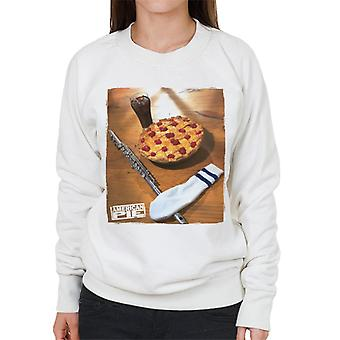 American Pie Flute Sock And Pie Women's Sweatshirt