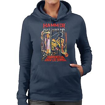 Hammer Frankenstein crea la Femme poster sudadera con capucha para mujer