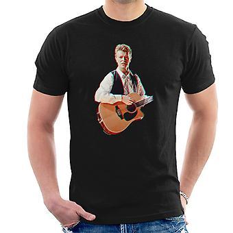 David Bowie in Birmingham NEC 1990 3D-Effekt Herren T-Shirt