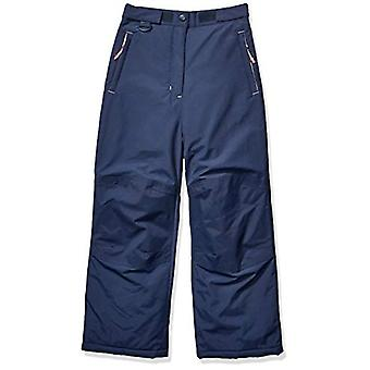 Essentials Girls' Little Water-Resistant Snow Pant, Navy, X-Small
