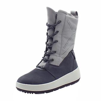 ECCO 801643 Ukiuk Gore-tex Ladies Casual Boots In Concrete