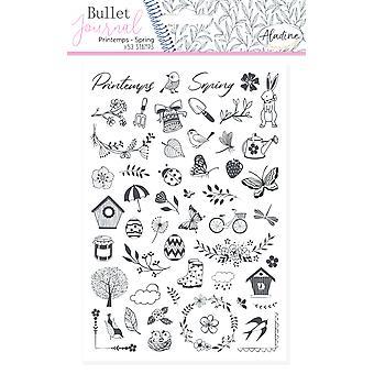 Aladine Bullet Journal Foam Timbres Printemps
