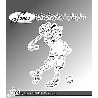 بواسطة Lene مضحك لاعب الغولف 1 ختم واضح