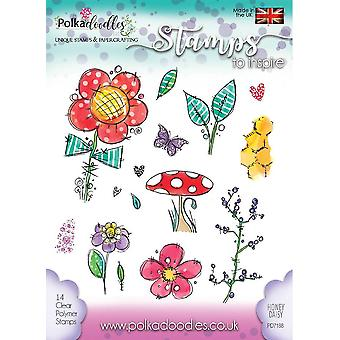 Polkadoodles Honey Daisy Clear Stamps