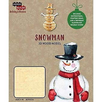IncrediBuilds Holiday Collection Snowman by Incredibuilds
