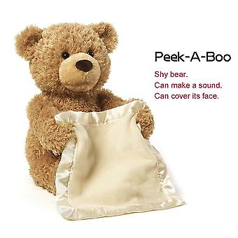 Peekaboo Bear Talking will move the Teddy Bear Electric Voice Over Face Shy Bear Plyšová hra