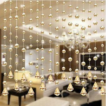 Luxury Glass Beads Door String Tassel Curtain Panel Room Divider