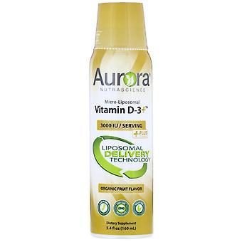 Aurora Nutrascience, Vitamina Micro-Liposomal D-3, Sapore di frutta biologica, 3.000 I
