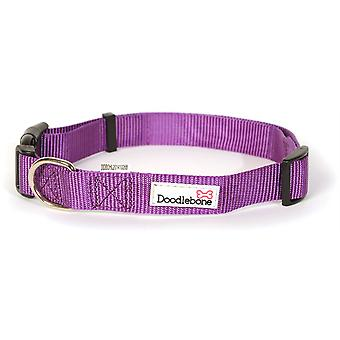 Doodlebone Adjustable Bold Collar - Medium - Purple