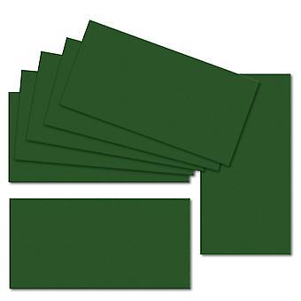 Syvä vihreä. 100mm x 210mm. DL Vakio. 235gsm korttiarkki.