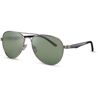 Solglasögon Unisex pilot silver/grön (CWI2100)