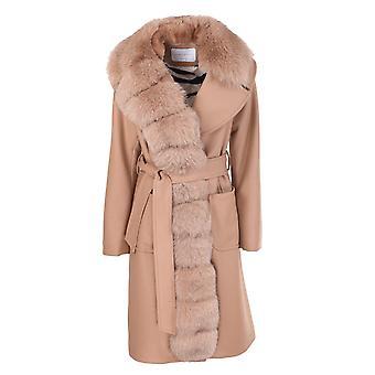 Violanti Via789214921 Women's Beige Cashmere Coat