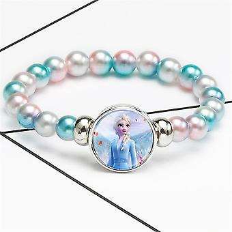 Elsa Anna Prinsessa Printed-pearl rannekorut
