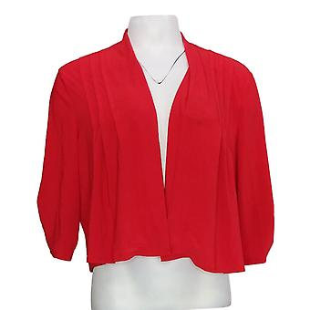 NorthStyle Women's Sweater Open Front 3/4 Sleeve Shrug Bright Red