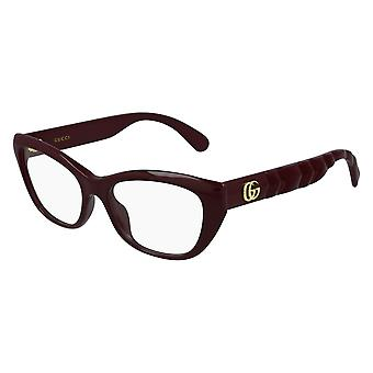 Gucci GG0813O 003 Burgundy Glasses