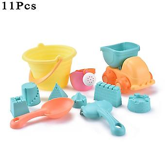 Children's Sand Box Beach Toys Sand Table Sand Bucket Set Soft Rubber Beach Cube Eco Friendly Colorful Castle Bucket Outdoor Fun