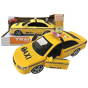 Auto taxi se světlem a zvukovým efektem (4 hudební tlačítka)