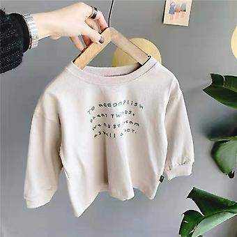 Boys Girls Cotton Casual Long Sleeve Sweatshirts Kids All-match Baby Girls T-shirt Girl's Top Cotton Casual Children's Clothes