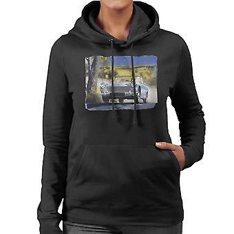 Austin Healey Countryside Background British Motor Heritage Women's Hooded Sweatshirt
