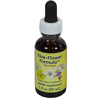 Flower Essence Tjänster Fem Blomma Formel i Glycerin, 1 Oz