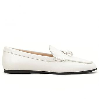 Moccasine avec nappine Tod's Cuir blanc