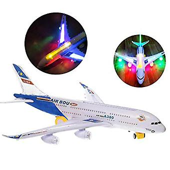 Electric Kids Action Toy, Airplane Plane With Lights And Sounds -for Boys And