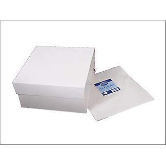 Essential Cake Box + Lid White 14in CBOX14