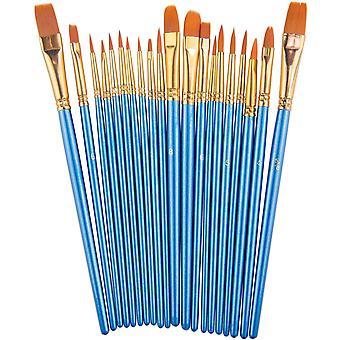 Paint Brush Set, Nylon Hair Brushes For Acrylic Oil Watercolor Painting Artist
