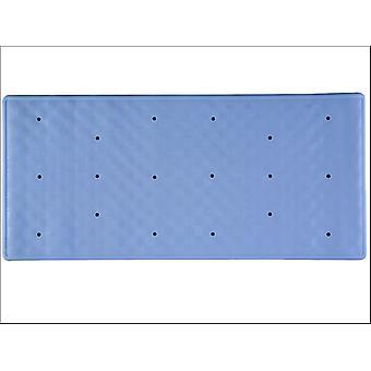 Home Label Roman Rubber Bath Mat Cornflower Blue 95348