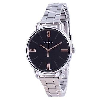 Casio Musta Dial ruostumaton teräs kvartsi Ltp-e414d-1a Ltpe414d-1a Women's Watch